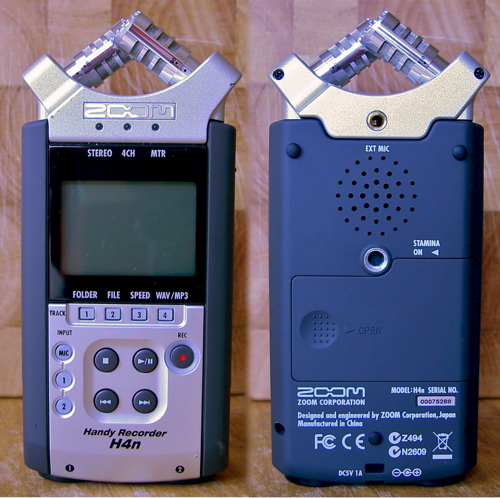 Zoom H4n - Front and back view