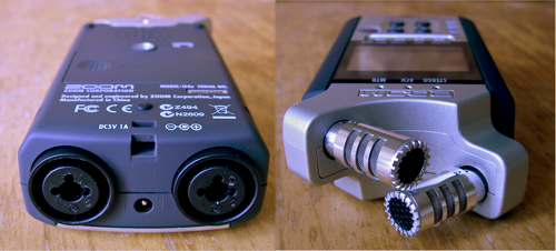 Zoom H4n - Top and bottom views